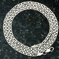 Marine100-30 4mm Heavy 19 Gram Italian Link Chain .925 Sterling Silver Chain 30 on sale