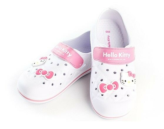 Hello Kitty NEW Kids Casual Shoes for Girls Clogs Summer School House White YOMI