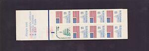 9-13-cent-USA-postage-stamp-booklet-United-States-America-Capital-Flag-K-844