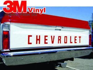 67 72 Fleet Side Chevy Truck Pickup Tailgate Letters 1967