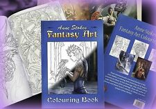 Anne Stokes Adult Coloring Book for Relaxation