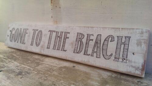 """старинный стиль /""""ушел на пляж/"""" знак потертый шик Деревенский выбеленный"""