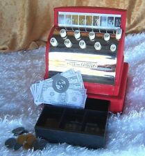 Vintage Tom Thumb toy cash register,with play money,1950's, collector