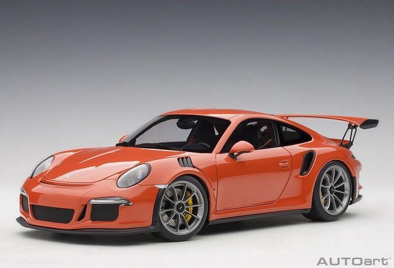 78168 Porsche 911 (991) Gt3 Rs (Lava Orange) 2016 1 18