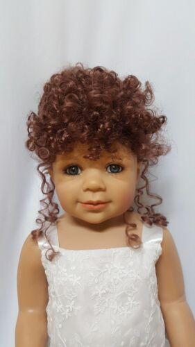 "WIG ONLY NWT Monique Margie Chestnut Brwn Doll Wig 16-17/"" fits Masterpiece Doll"