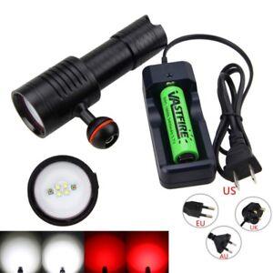 Underwater-100M-LED-Diving-Scuba-Flashlight-Torch-18650-26650-Vedio-Lamp-Fishing
