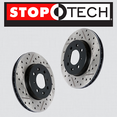 REAR STOPTECH SPORTSTOP DRILLED BRAKE ROTORS
