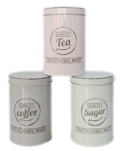 Kaffedose aromadose 3er Set Coffee Tea Suger Boîte Vorratsdose nostalgie vintage