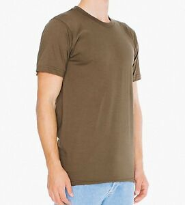 7a378d6c American Apparel Army Fine Jersey Short Sleeve T-Shirt Small 2001 ...