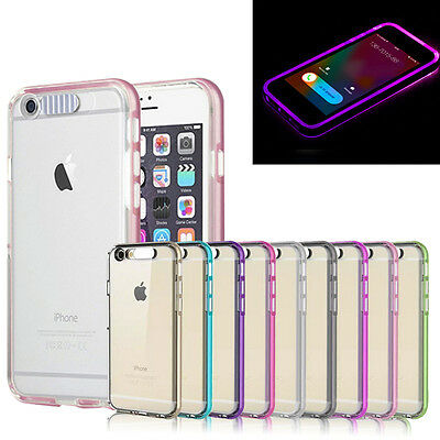 Shockproof Hybrid Rubber Hard LED Light Cover Case For iPhone SE 5/5S 6S 6 Plus