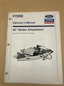 Ford-New-Holland-38-034-Mower-for-8-HP-12HP-Hydrostatic-Tractor-Operator-039-s-Manual