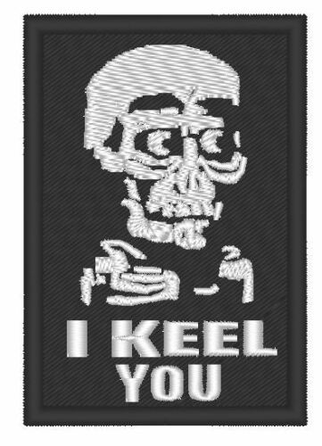 """I KEEL YOOU/"""" GLOW IN DARK EMBROIDERED  PATCH ONE TV//MOVIE PATCH /""""ACHMED"""
