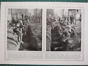 1915 Première Guerre Mondiale G.mondiale 1 Imprimé ~ Apprentissage à Bayone Qbmwcrq2-07235409-275325043