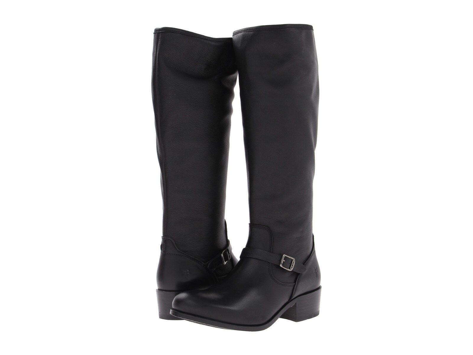 Women's Frye Boots Lynn Strap Tall ZipOn Riding Boot Black 76105 BLK