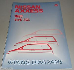 Details about Wiring Diagrams Electricity Nissan Axs (Prairie) M11 on