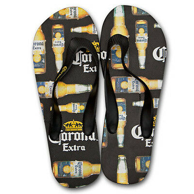 Corona Flip Flops Black Bottle