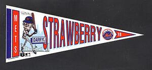 1990-METS-Darryl-Strawberry-7-034-vinyl-pennant-New-York-All-Star