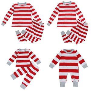 602380675b1c Family Matching Christmas Pajamas Set Women Baby Kid Striped ...