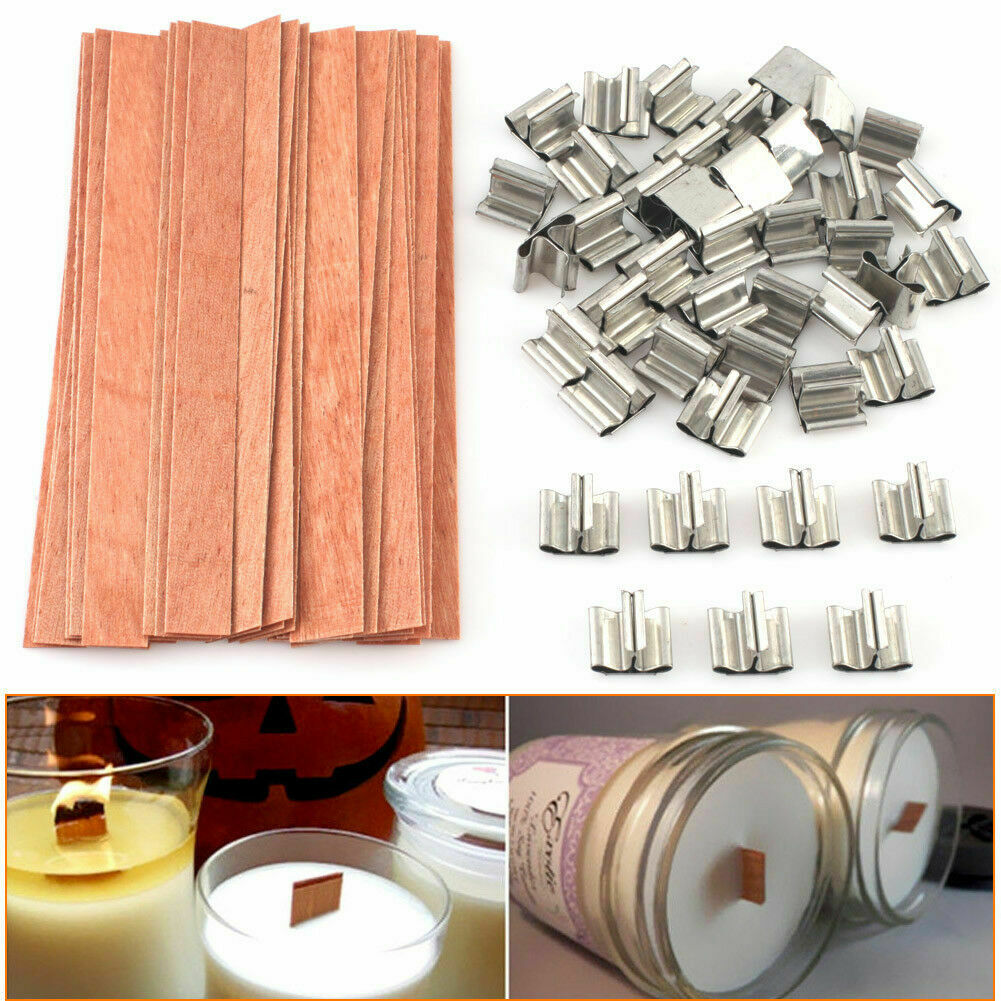 403 Pieces DIY Candle Making Kit for Candle Making DIY 200 Feet 2mm Hemp Candle Wick Roll 200 Pieces Wick Sustainer Tabs 200 Pieces Candle Wick Stickers 2 Pieces Candle Wicks Holder
