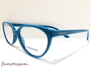 eb446faf5af2 Versace Eyeglasses VE MOD 3157-M 5068 Blue Rectangle Frame 54mm Made ...