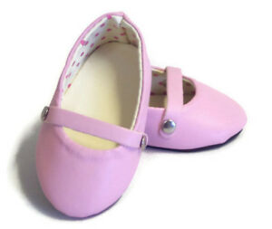 "Lavender Flats Shoes made for 18/"" American Girl Doll Clothes"