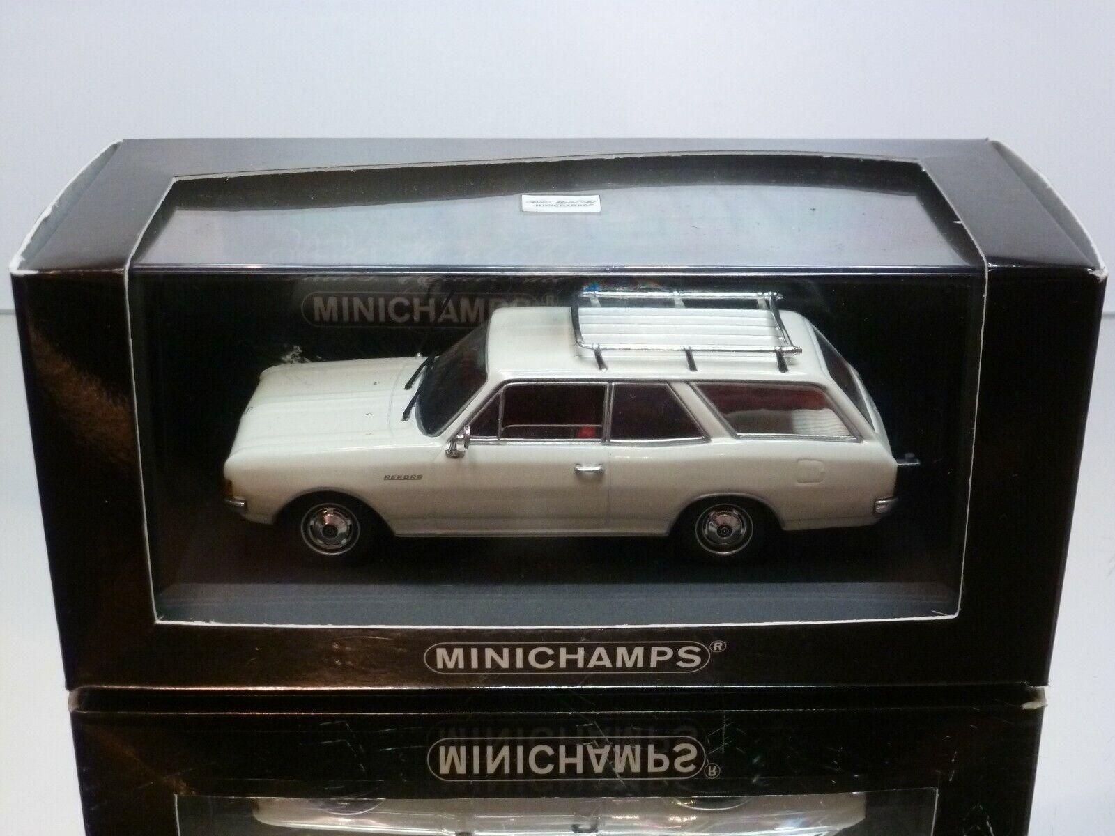 popular MINICHAMPS 46110 OPEL OPEL OPEL REKORD C BREAK 1966 - blanco 1 43 - MINT CONDITION IN BOX  tienda en linea