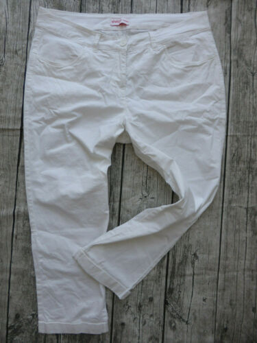 519 NUOVO 42 a 58 bianco Pantaloni Sheego Caprihose 7//8 CHINO PANTS Tg 752