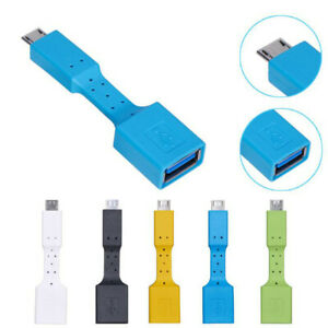 USB 3.1 Micro B To USB 3.0 Type A Male-to-Female OTG Data Connector Cable Adapte