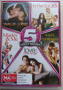 5-DVD-Walk-the-Line-In-Her-Shoes-Marley-amp-Me-Water-for-Elephants-BRAND-NEW