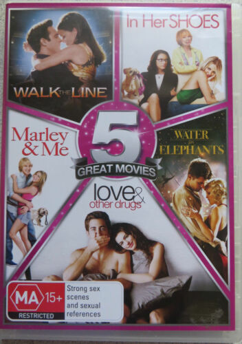 1 of 1 - 5 DVD Walk the Line, In Her Shoes, Marley & Me,Water for Elephants + more NEW!