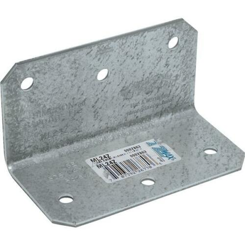 """Simpson Strong-Tie Steel 12 Ga Z-Max 2/"""" X 2/"""" X 4/"""" Reinforcing Angle ML24Z"""