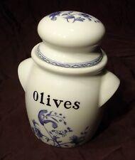 Pot  bocal à olives Porcelaine de Paris  décor Vieux Chine
