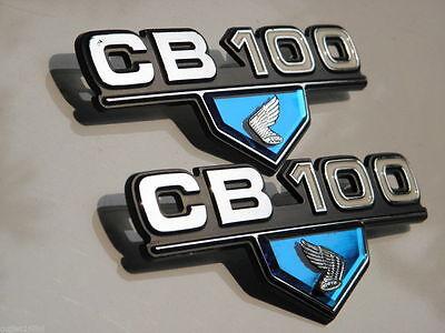 Pair Honda Sport CB 100 CB100 K3 K4 Emblem Badge Side Frame Cover 4 Mount Clip