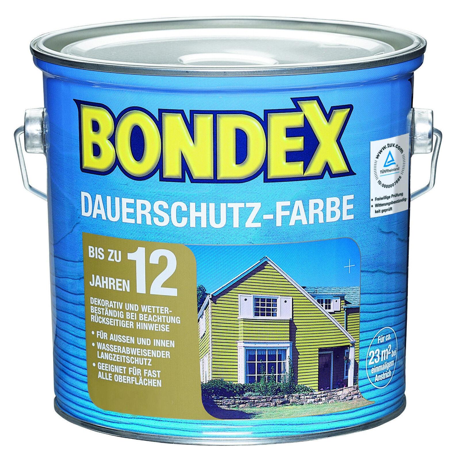 Bondex Dauerschutzfarbe Schneeweiß 4 L Dauerschutz Farbe Holzfarbe Holzschutz