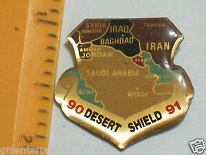 Vintage-Desert-Sheildl-Pin-1990-1991-Vietnam-Era-Lapel-Pin-133
