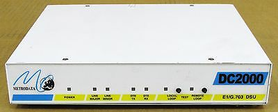 Other Enterprise Networking Computers/tablets & Networking Confident Metrodata Dc2000 E1/g.703 Dsu Interface 80-05-001 72-01-240-1 Network Lan To Win Warm Praise From Customers