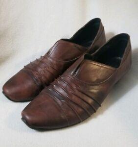 Josef Seibel 6.5 Brown Slip on Loafers