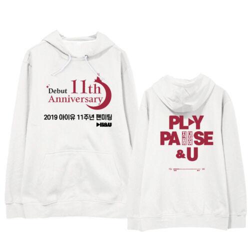 Kpop UI Lee Ji Eun 11th Anniversaire CAP SWEAT à CAPUCHE UNISEXE FASHION fans Sweatershirts