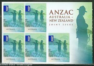 AUSTRALIA-2015-WW-I-ANZAC-9-25-SELF-ADHESIVE-BOOKLET-MINT-NEVER-HINGED