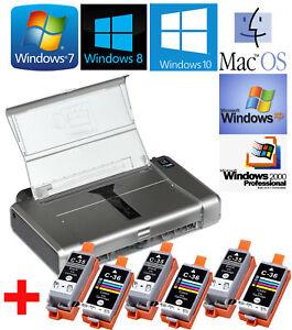 Mobile-Inkjet-Printer-Canon-Pixma-IP100-Win-2000-XP-7-8-10-3x-Inkjet-Sets