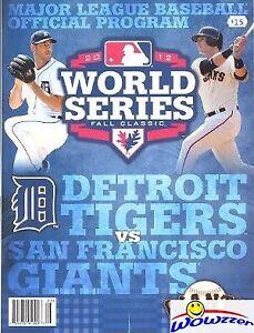 2012 Official Baseball World Series Program-Giants vs Tigers- NEW! Never Opened!