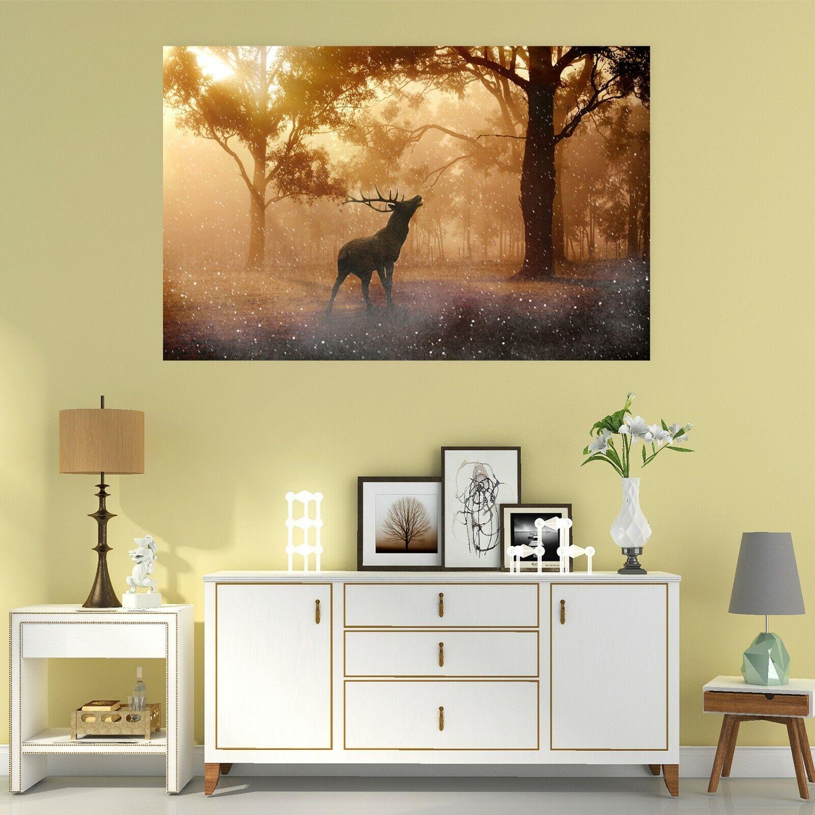 3D Deer Tree B044 Animal Wall Stickers Vinyl Wallpaper Murals Wendy