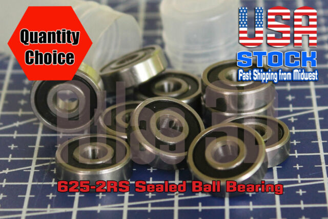 6010-2RS Sealed Radial Ball Bearing 50X80X16 10 pack
