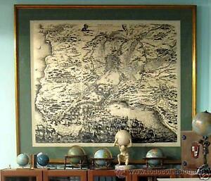 1850 - SIEGE DE LA ROCHELLE -Enorme Grabado 1'2 metros-Rupellae Obsidio Sitio de