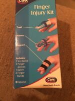 Carex Finger First Aid Injury Kit Injured Finger Ice Sleeve Splint Brace Bandage