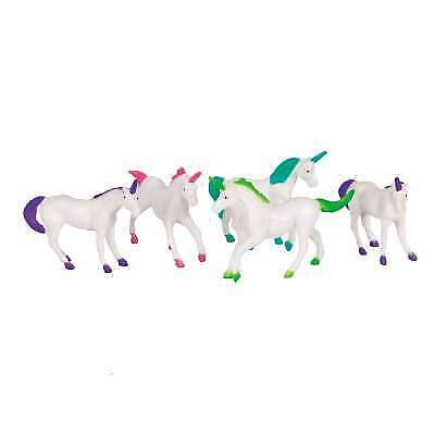 Plastic Unicorn Party Bag Toys Pack of 8