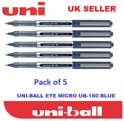 Cheapest on 6 x UNI BALL EYE FINE UB-157 ROLLERBALL PEN BLUE COLOUR