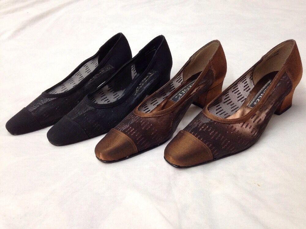 2 Pair J. Renee Genie Nude Slingback Pumps Pointed Toe Women's Dress Shoes 6.5 M