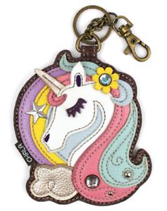 Chala Mystical Unicorn Whimsical Key Chain Coin Purse Bag Fob Charm