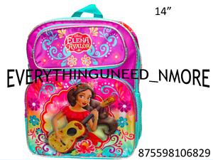 "Disney Princess Elena Of Avalor 14/"" Girls School Backpack-6829"